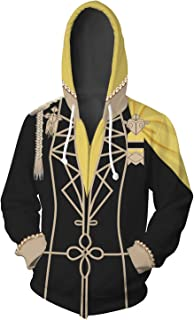 Fire Emblem Three Houses Golden Deer/Blue Lion/Black Eagle Sweatshirt Zip-Up Hoodie Cosplay Costume Unisex