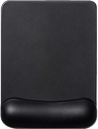 Almohadilla de Mouse de Espuma de Memoria EXCO Cuadrada Negra con Soporte de muñeca, Alivio del Dolor, para computadora portátil de Escritorio