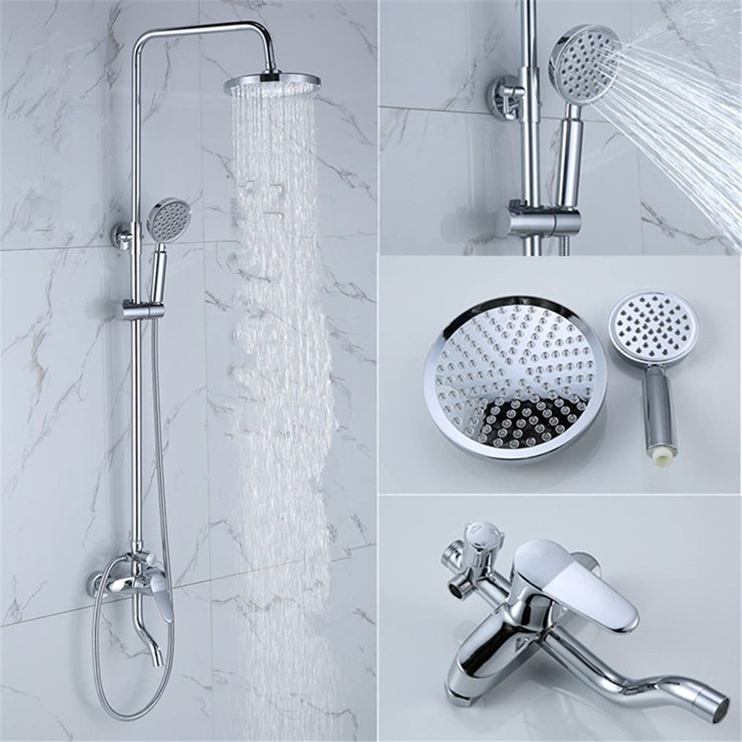 Oudan Bathroom Sink Basin Tap Brass Mixer Tap Washroom Mixer Faucet The copper shower faucet and cold water showers ultra-low pressure showers bathroom shower k