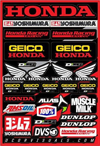 D'cor - Hoja de calcomanías 40-10-114 (Team Geico Honda 30,5 x 45,7 cm), 1 paquete