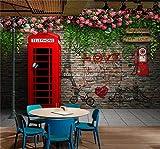 SKTYEE Personnalisé Photo Papier Peint Moderne London Cabine Téléphonique Rose 3D...