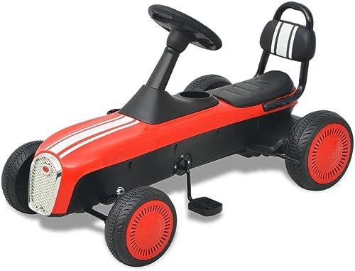 SENLUOWX Pedal Go-Kart Rot Kinderfahrzeug 94 x 52 x 55 cm