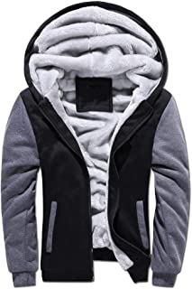 Nobrand Winter Men's Plus Velvet Thick Warm Sweater Youth Hoodies Hooded Cardigan Jacket