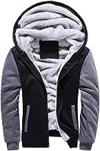 Nobrand Winter Men's Plus Velvet Thick Warm Sweater Youth Hoodies Hooded Cardigan Jacket