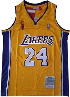 8 Kobe Bryant Lakers No Maglia Basket Maglia Basket Maschile Traspirante ad Asciugatura Rapida Sport Estivi Tessuto del Ricamo della Maglietta S-XXL