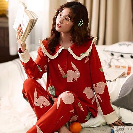 LIUYUNN Pijamas De Mujer,Lindo Conejo Rojo con Estampado De ...