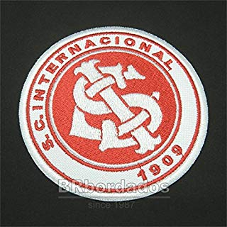 TRS040 S. C. Internacional RS Brazil Shield Football Soccer Embroidered Patch Iron or Sew