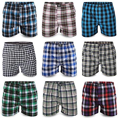 Best Basics Boxershorts Hipster American Style Boxer Unterhosen Baumwolle Herren,L,10er Pack (mehrfarbig)