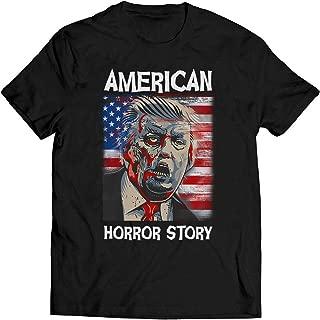American Lovers Horror Story Halloween T Shirt Donald Trump Zombie Scary Halloween T Shirt
