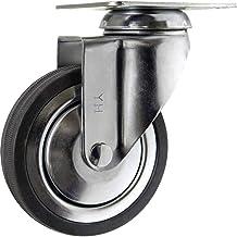 TOOLCRAFT TO-5137926 Zwenkwiel rubber 100 mm met schroefplaat