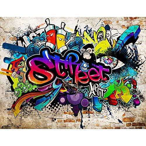 Fototapeten Graffiti Streetart 352 x 250 cm Vlies Wand Tapete Wohnzimmer Schlafzimmer Büro Flur Dekoration Wandbilder XXL Moderne Wanddeko - 100% MADE IN GERMANY - Runa Tapeten 9218011b