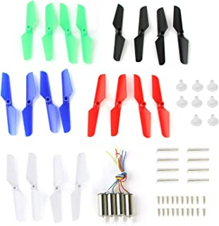 Coolplay Full Set Spare Parts with Main Blade Propeller Motors Main Gear Set with Shaft Mounting Screws Replacement for Syma X11 X11C X13 RC Quadcopter