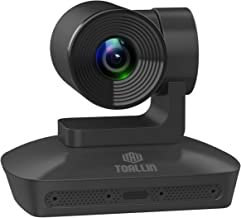 TOALLIN HD 1080P PTZ Conference Room Camera with 4 Microphones Array, 10X Optical Zoom Lens Widescreen Video Conferencing ...