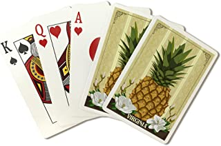 Virginia - Colonial Pineapple (Playing Card Deck - 52 Card Poker Size with Jokers)
