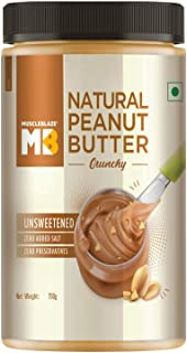 MuscleBlaze Natural Peanut Butter (Crunchy, 750g)