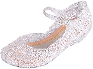 855e25d5961 Vokamara Cinderella Baby Girls Soft Crystal Plastic Shoes Children s  Princess Shoes(Toddler Little Kid