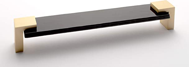 product image for Sietto P-1203-8-SB Sietto P-1203-8 Affinity 8 Inch Center to Center Handle Cabinet Pull with Black Glass