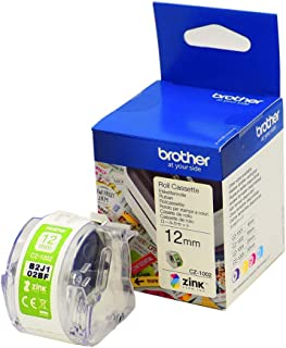 Brother CZ-1002 Zero-Ink Roll Cassette, Continuous Length, 12 mm (W) x 5 m (L), Brother Genuine Supplies, White