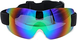 Pc Ski Snowboard Snow Goggles Magnet Dual Layers Lens Spherical Design Anti Fog Uv Protection
