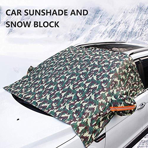 CHUTD Universal Auto Windschutzscheibenabdeckung Sonnenschutz Prote Auto Schutzkleidung Winter Schnee EIS Regen Staub Frostschutz (Farbe: A)
