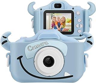 SoloKing Cámara para NiñosVideo Cámara Infantil con 12 MegapíxelesDoble LentePantalla LCD de 2.0 PulgadasVideo HD de 1080P32GB Tarjeta de Memoria Incluida (Azul)