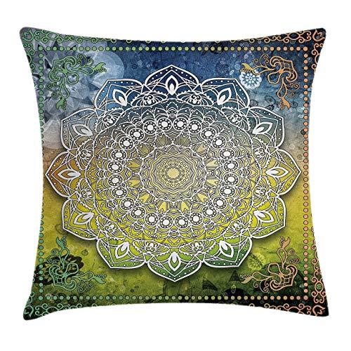 Copricuscini e federe Mystic Mandala Culture Karma Calmness and Harmony Boho Design Federe per Cuscini soggiorno divano Cuscino Quadrato Polyester 45*45cm