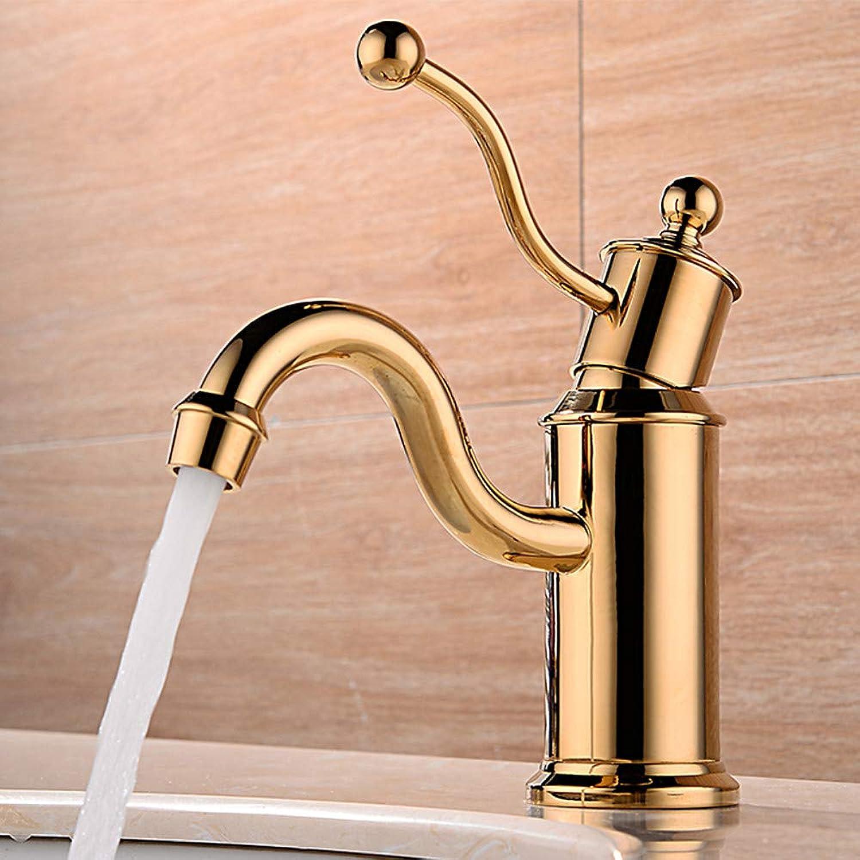 Tintin Waschbecken Wasserhahn - Verbreitete Neues Design Golden deckenmontiert Einhand Ein Loch,1