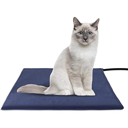 Amzdest Pet Heating Pad Waterproof Cat Dog Heated Pet Bed Pad with 2 Auto Constant Control Electric Heating Pad for Dogs and Cats Indoor Warming Mat with Chew Resistant Steel Cord /& Washable Cover