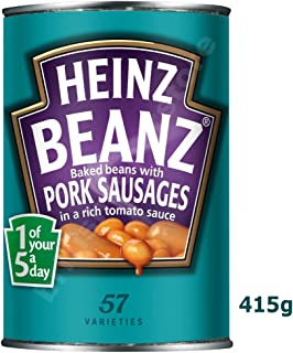 Heinz Baked Beanz with Pork Sausages in Tomato Sauce (415g)
