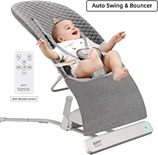 Baby Bouncer, RONBEI Baby Swing for Infants, Automatic Swing & Bouncers, Bouncer Balance Soft, Cotton (Dark Grey)