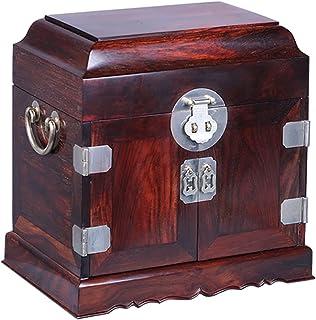 QVQV Boîte à Bijoux pour Femmes Boîte de Rangement de Bijoux en Acajou de Style Chinois rétro boîte à Bijoux en Bois de Ro...