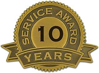 PinMart 10 Years of Service Award Lapel Pin
