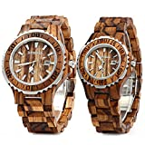 Best Wood Watches - Bewell ZS-100B Couple Wooden Quartz Watch Men Review