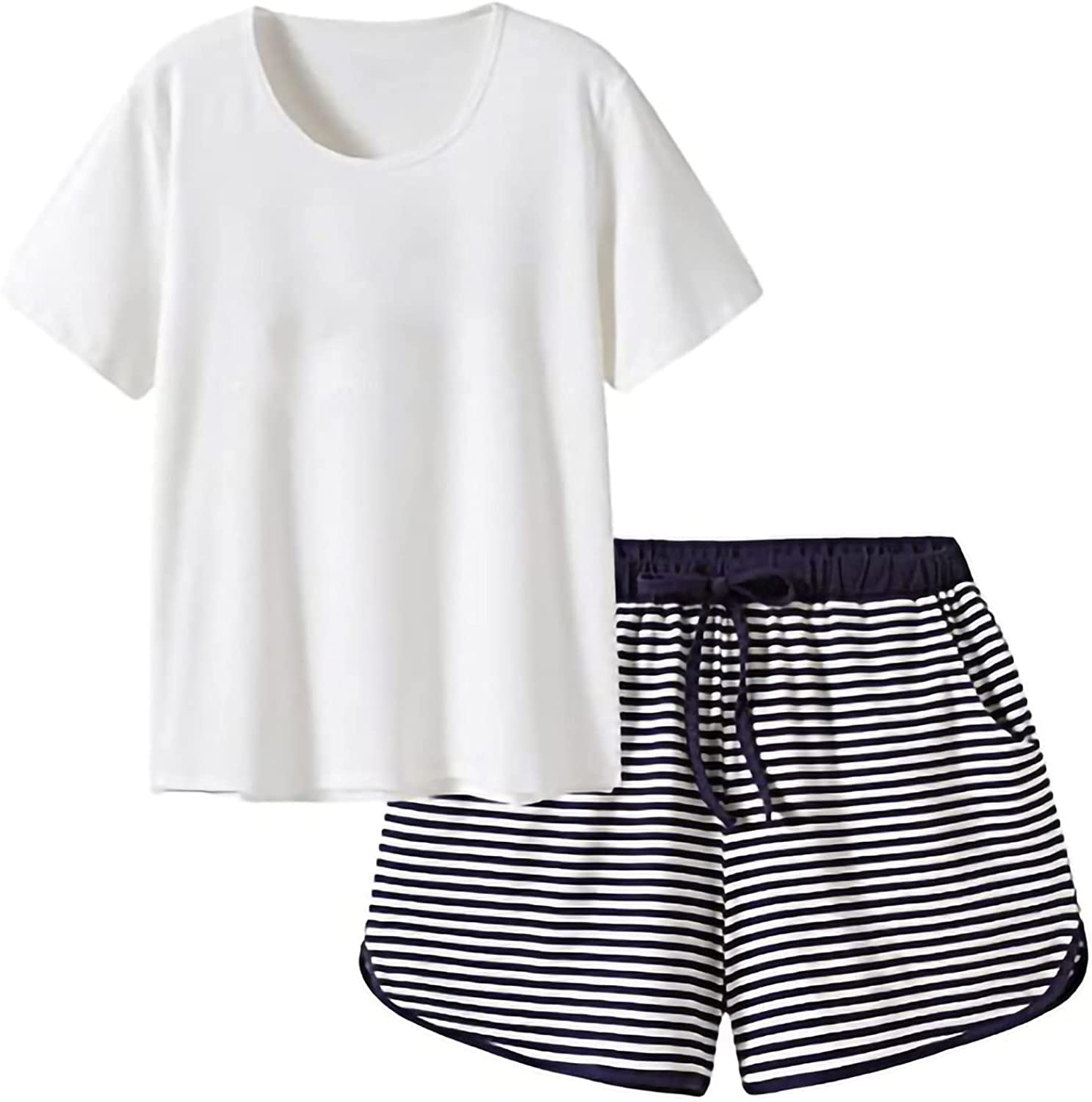Max 67% OFF wodceeke Womens Two Piece Outfits Pullover Short Sleeve Cheap mail order shopping Pajamas