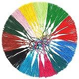 120 Piezas Decorativo Mini borlas Flecos de Seda Nudo Borlas Pendiente de Recuerdo de DIY para hacer joyas, manualidades, marcadores de libros,12 colores