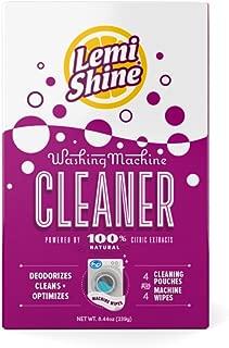 Lemi Shine Washing Machine Cleaner with Machine Wipes-Lemon - 4 ct
