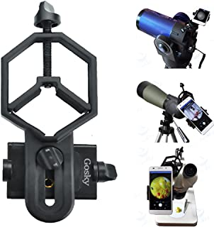 Gosky Big Type Universal Smartphone Adapter Mount for Spotting Scope Telescope Binocular Monocular, Black
