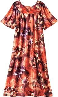 AmeriMark Lounger House Dress with Pockets for Women Muu Muu Nightgown