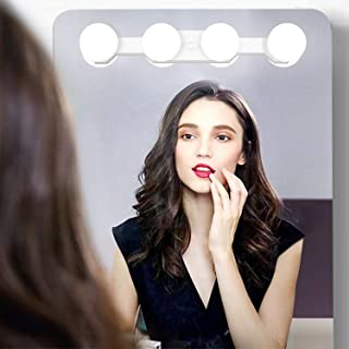 Portable LED Makeup Lights,Rechargeable Vanity Mirror Light with 4 LED Bulbs,Simulated Daylight for Bathroom Makeup Dressing Table Lights,Kitchen Lights,Wardrobe Lights
