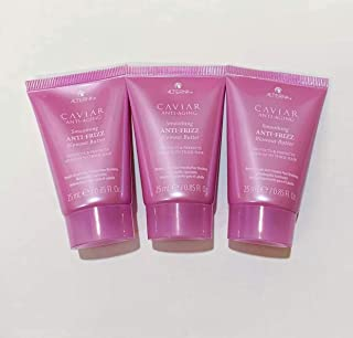 Alterna Caviar Smoothing Anti-Frizz Blowout Butter Protects & Perfects Medium To Thick Hair ~ Travel Set Of 3 ~ (0.85 each) Total 2.55 fl oz