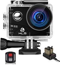 دوربین اکشن زیرآبی ، دوربین ورزشی ضد لرزش ضد آب در برابر 4K WiFi EIS با لنز زاویه باز 20MP 170 درجه ، 2 باتری قابل شارژ ، کنترل از راه دور برای Vlog ، ورزش ، فیلمبرداری در خانه ، و غیره