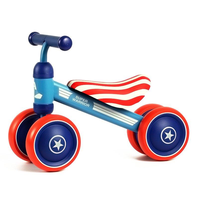 致暖Warmest 儿童平衡车 婴儿滑行学步车 宝宝周岁生日礼物 乐的系列扭扭车 (条纹超级队长)