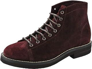 BRUNELLO CUCINELLI Chaussures Homme Bourgogne 100% Cuir Bottes Chukka 42