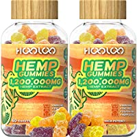 2-Pack Hooloo 1,200,000MG Vegan Fruity Hemp Gummy Bears