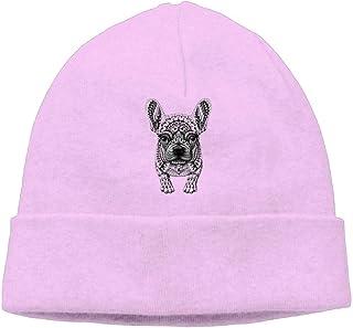 a925dc57cfe FANRENYOU Beanie Hats Knitted Cap Womens Winter Retro Frenchie French  Bulldog