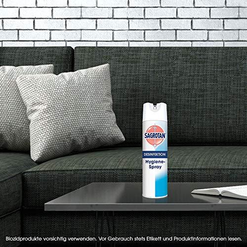 Sagrotan Hygiene-Spray (Aerosol) (Desinfektionsmittel für Textilien und Oberflächen im Haushalt, Sprühflasche im praktischen Vorteilspack) 6 x 500 ml - 6