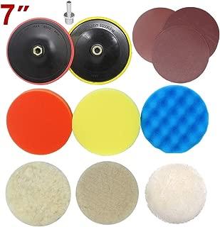 Lion Tools PTH006 Toolman Adapter Drill polishing Plate Sanding Buffing Woolen Sponge pad 12pc 7
