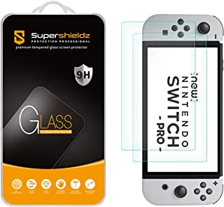 (2 Pack) Supershieldz Designed for Nintendo Switch OLED (2021) Tempered Glass Screen Protector, Anti Scratch, Bubble Free