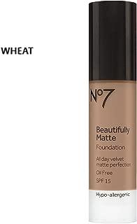 BOOTS No7 Beautifully Matte Foundation 1fl oz SPF 15 Beauty Make up (WHEAT)