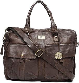 Kompanero Brown Genuine Leather Messenger Bag